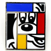 Mickey Mouse Brooch By Rod Dyer Disney Vintage Mondrian Style Cubism