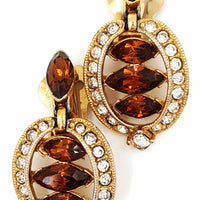 Vintage Bogoff Rhinestone Earrings at bitchinretro.com
