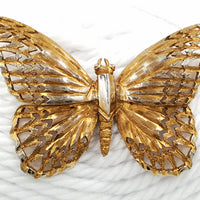 Schrager Vintage Butterfly Brooch with Amazing Details Circa 1960's