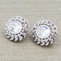 Swarovski Crystal Vintage Earrings at bitchinretro.com