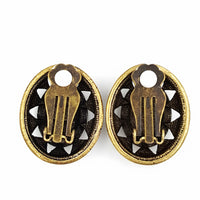 Joan Rivers Rhinestone Mosaic Earrings with Byzantine Style and Details