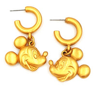 Disney Mickey Mouse Hoop Earrings at bitchinretro.com