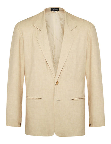 Oatmeal Non Crush Linen Jacket