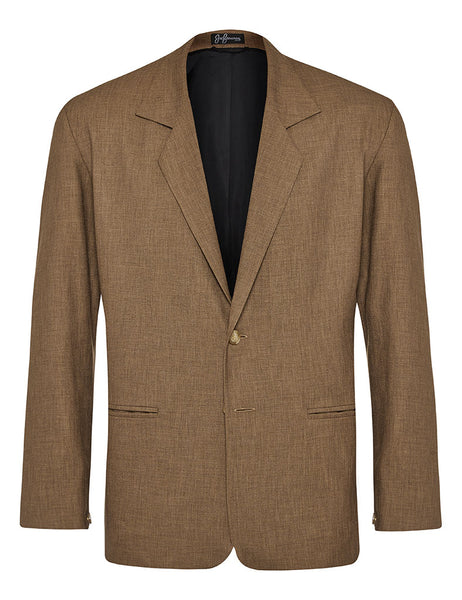 Coffee Non Crush Linen Jacket