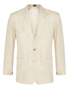 Cream Herringbone Linen Jacket