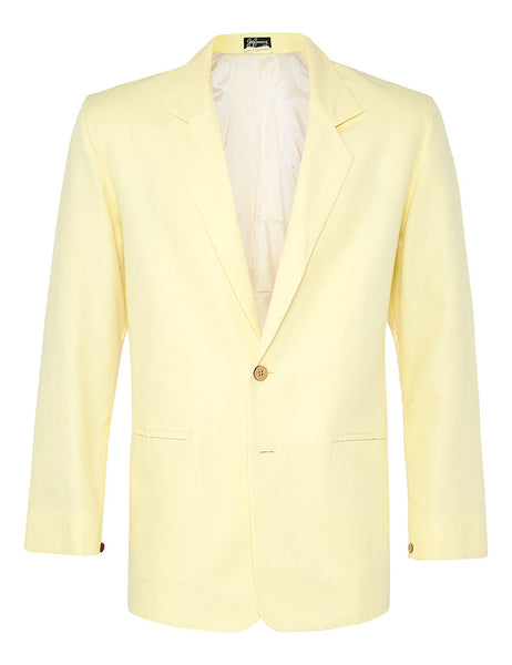 Lemon Spread Linen Jacket