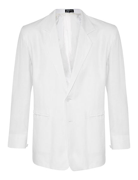 White Twill Linen Jacket