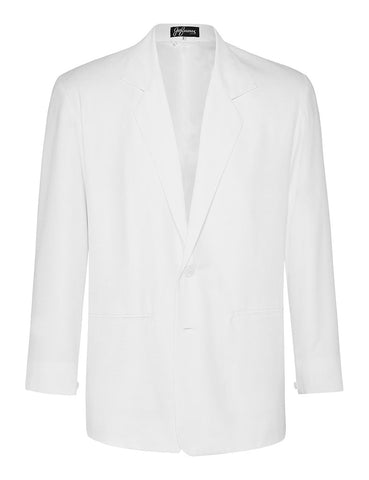 White Non Crush Linen Jacket