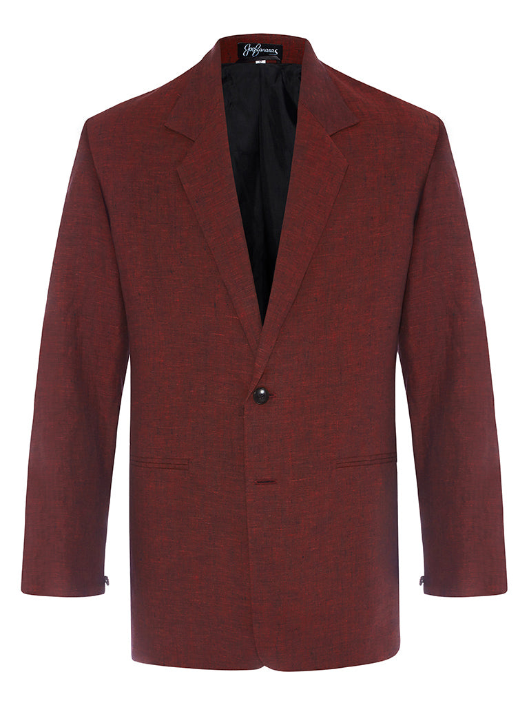 Ox Blood Linen Jacket