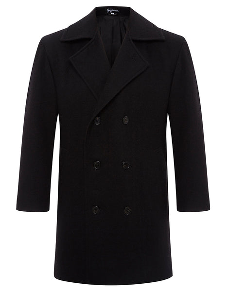 Black Suri Pea Coat