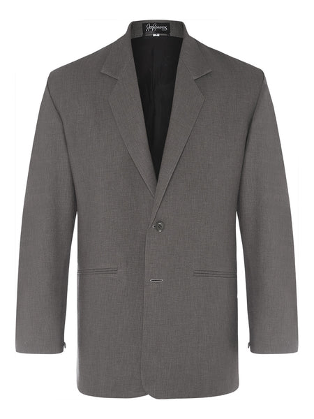 Charcoal Non Crush Linen Jacket