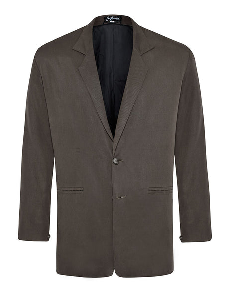 Charcoal Silk Twill Jacket