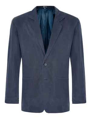 Navy Silk Twill Jacket