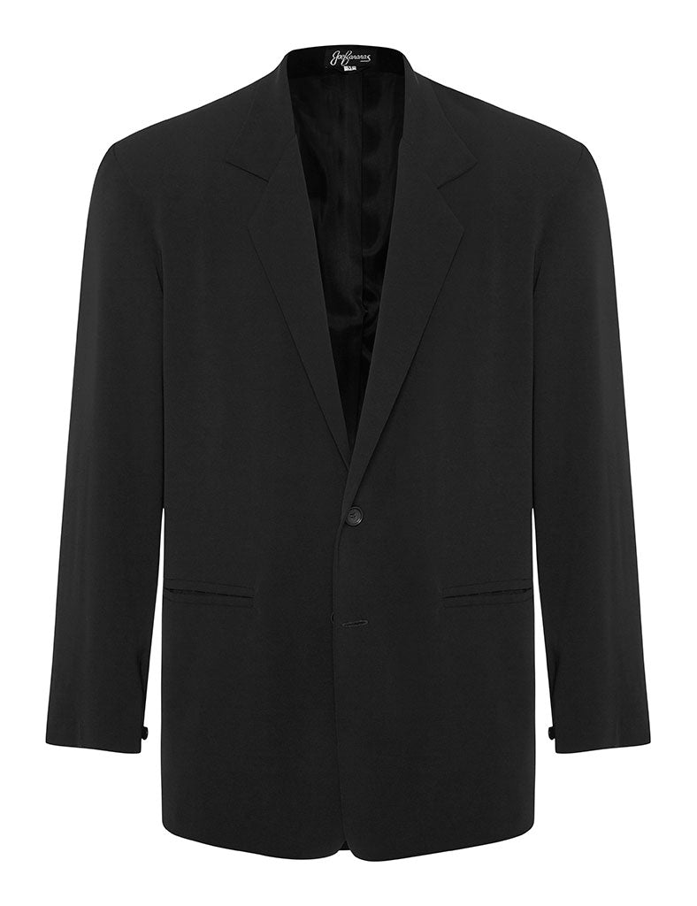 Black Silk Crepe Jacket