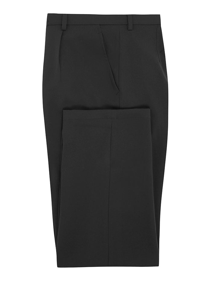 Charcoal Silk Crepe Trousers
