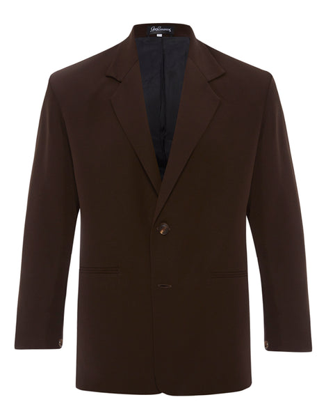 Chocolate Brown Silk Crepe Jacket