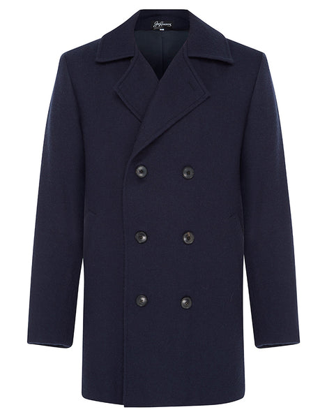 Navy Suri Pea Coat