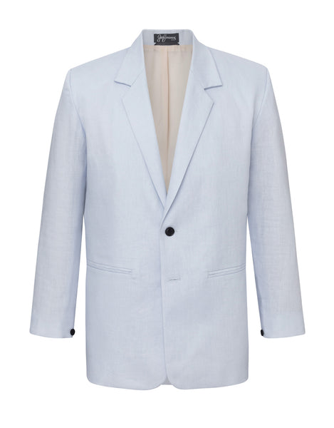 Powder Blue Linen Jacket