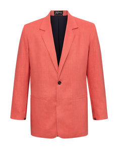 Coral Linen Jacket