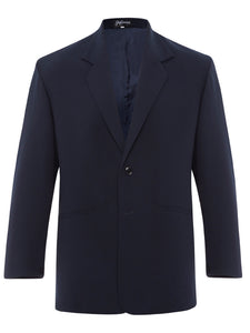 Navy Silk Crepe Suit