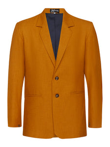 Ochre Non Crush Linen Jacket