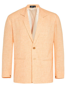 Salmon Sorbet Non Crush Linen Jacket