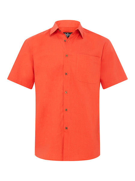 Burnt Orange Linen S/S Shirt