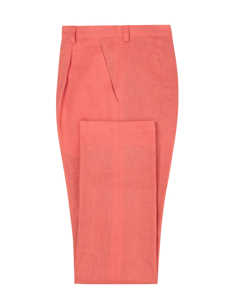 Coral Linen Trousers