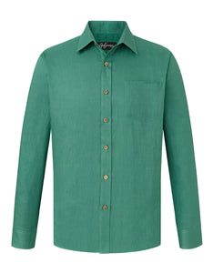 Forest Green Linen L/S Shirt