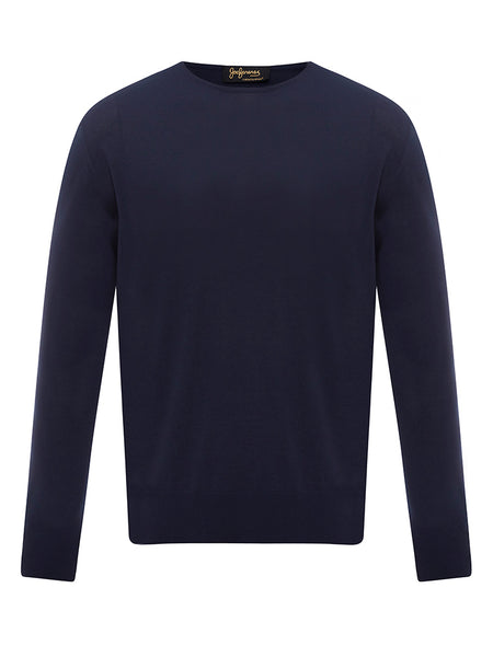 Golden Fibre Navy Crew Neck