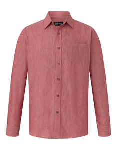 Ruby Red Linen L/S Shirt