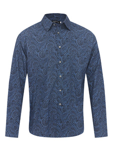 Poseidon's Paisley L/S Cotton Shirt