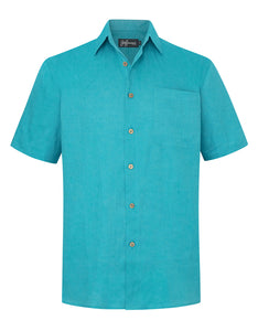 Spearmint Linen S/S Shirt