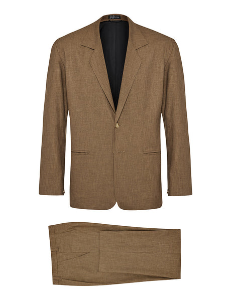 Coffee Non Crush Linen Suit