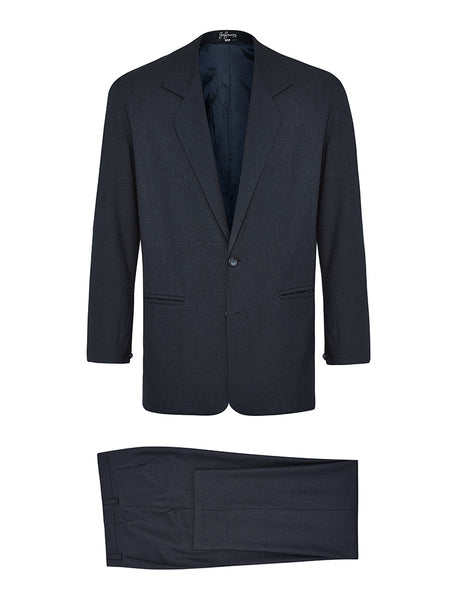 Navy Non Crush Linen Suit