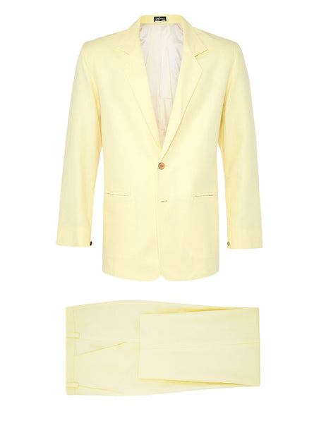 Lemon Spread Linen Suit