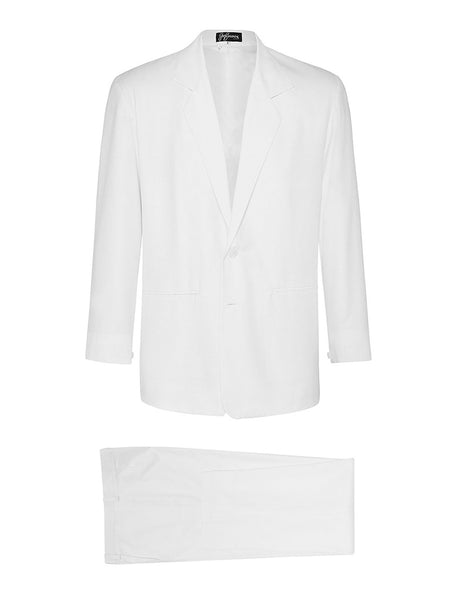 White Non Crush Linen Suit