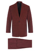 Ox Blood Shot Linen Suit
