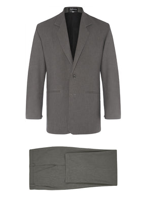 Charcoal Non Crush Linen Suit