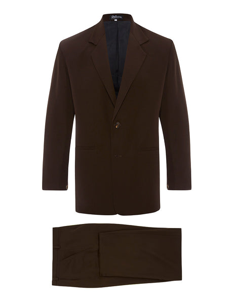 Chocolate Brown Silk Crepe Suit