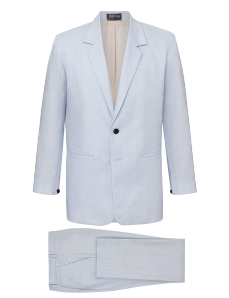 Powder Blue Linen Suit