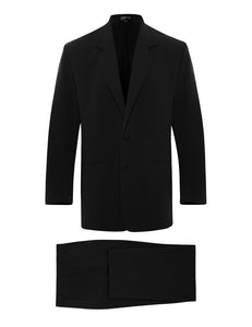 Black Silk Crepe Suit