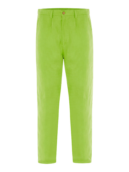 Lime Linen Trousers