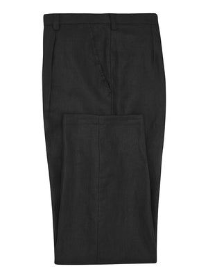 Black Silk Crepe Trousers