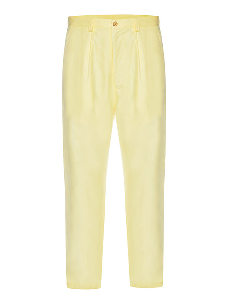 Lemon Spread Linen Trousers