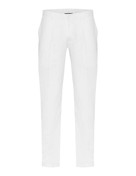 White Linen Twill Trousers