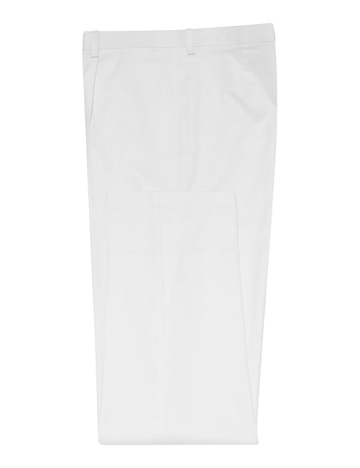 White Non Crush Linen Trousers