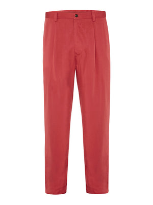 Newport Yacht Club Red Silk Twill Trousers