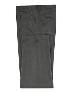 Charcoal Silk Twill Trousers