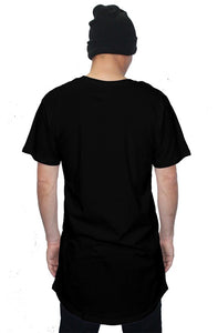 """HUSTLE."" LONG-CUT URBAN T (BLACK) - Hustle Culture 